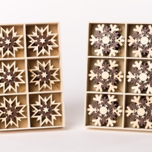 3D-Baumbehang Stern oder Schneeflocke 1 Box PRO KAUF Ø 6cm NEU