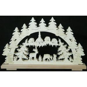 Schwibbogen Tiere im Wald B x H= 50x31cm NEU