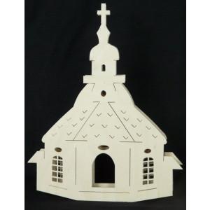 Beleuchtete Fensterbilder Kirche zu Seiffen B x H= 37x28cm NEU