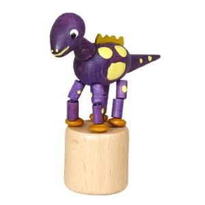 Wackeltier Wackelfigur Seiffen Erzgebirge Dinosaurier lila Spielzeug 105/024 NEU