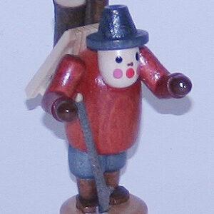 Figur stehend Holzsammler 6 cm Erzgebirge Seiffen NEU