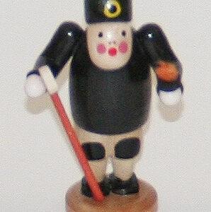 Figur stehend Bergmann schwarz 6 cm Erzgebirge Seiffen NEU