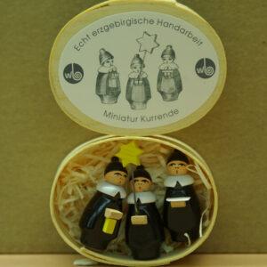 Miniatur, Kurrende 4 cm Erzgebirge Seiffen NEU