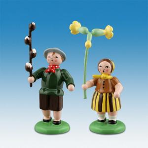 Blumenkinderpaar Höhe ca 6,5 cm NEU