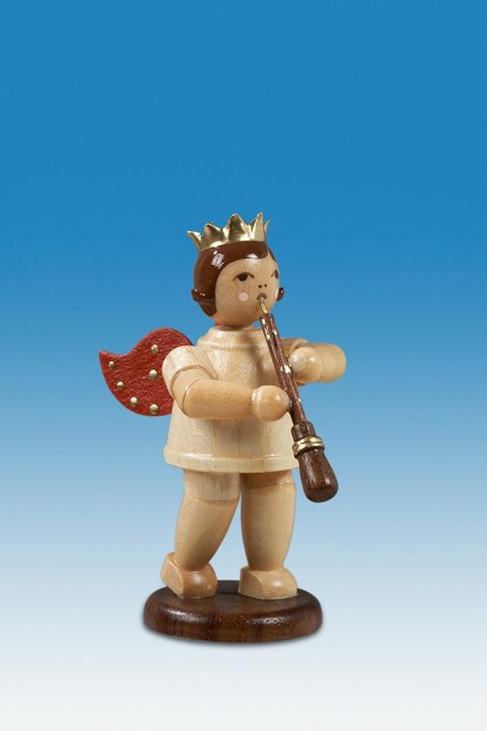 Engel mit Oboe Ohne Krone / natur Höhe ca 6,5 cm NEU