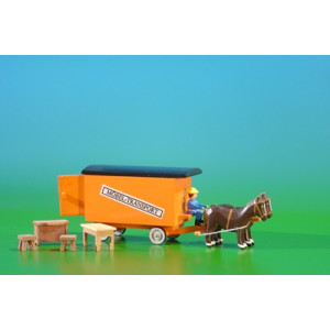 Gespannfahrzeuge Mini.-Gespann Möbel-Transport mit 4 Möbelstücke Länge ca 11,5 cm NEU
