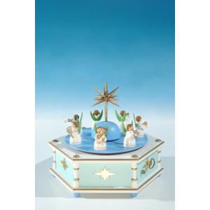 Spieldose mit Engelkapelle, 28.stimmig Höhe ca 20 cm NEU