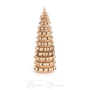 Baum Ringelbäumchen ohne Stamm, vergoldet Höhe ca 6 cm NEU