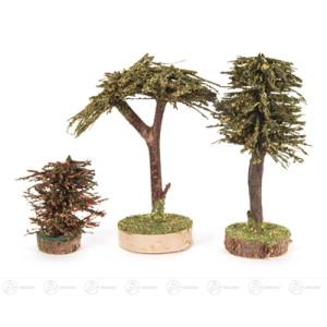 Bäume Verschiedene Bäume (3) Höhe ca 12,5 cm NEU