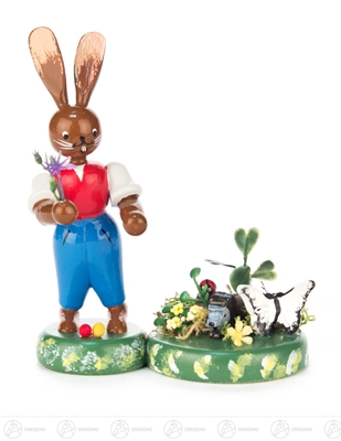 Ostern & Frühjahr Hase Frühlingserwachen Breite x Höhe ca 8,5 cmx10,5 cm NEU