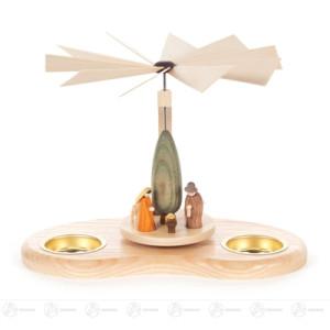 Pyramide mit Christi Geburt, für Teelichte Breite x Höhe x Tiefe 21 cmx15 cmx17 cm NEU