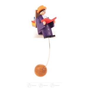 Spielzeug Schaukelfigur Bücherwurm Höhe ca 9 cm NEU