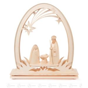 Erzgebirgsbogen mit Christi Geburt, elektrisch beleuchtet (LED) BxHxT 310 x 330 x 65mm NEU