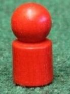 Holzspielzeug Spielemännchen 20 Stück Rot Ø=1,7cm, H=3,5cm NEU
