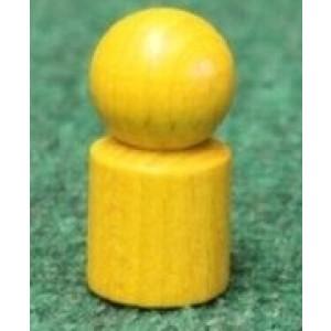 Holzspielzeug Spielemännchen 20 Stück Gelb Ø=1,7cm, H=3,5cm NEU