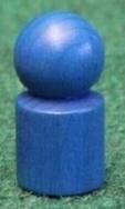 Holzspielzeug Spielemännchen 20 Stück Blau Ø=1,7cm, H=3,5cm NEU