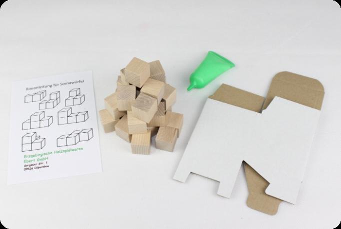 Holzspielzeug Somawürfel Bastelset BxHxT 2x2x2cm NEU