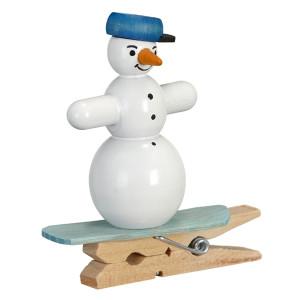 Baumbehang Schneemänner Snowboard mit Klammer Höhe ca. 5cm NEU