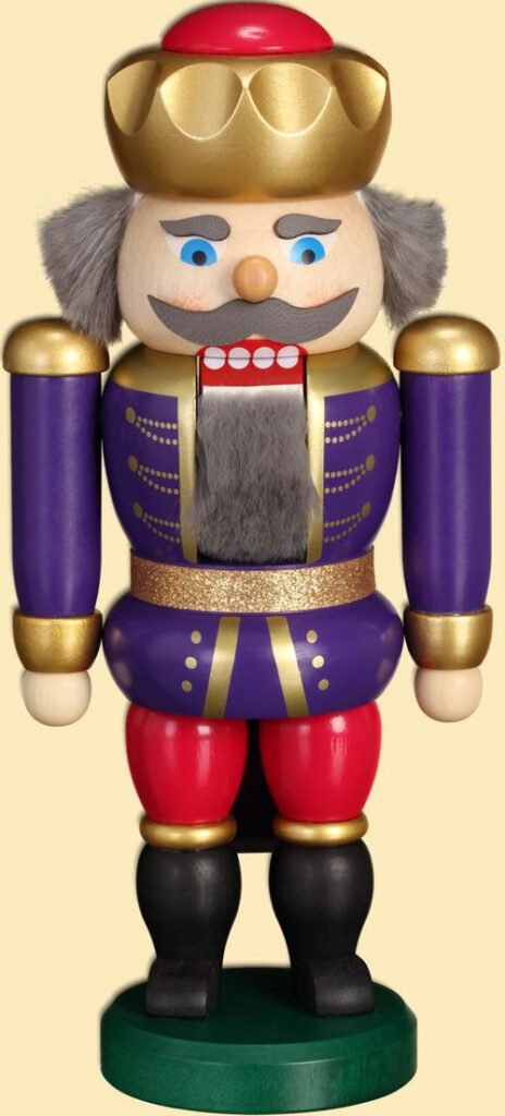 Weihnachtsdekoration Nußknacker König Indigo-himbeer HxBxT = 20x10x6cm NEU