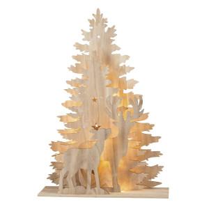 """XL-3D-Weihnachtsbaum mit Hirsch und Reh """"Country Style"""", Trafo für Netzbetrieb inklusive 60x18x86,5cm NEU"""