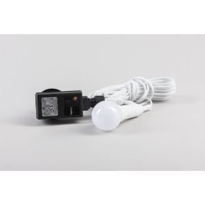 Außenkabelset inkl. LED-Elektrik mit 6-Stunden-Timer, IP44 Trafo (Leuchtmittel nicht auswechselbar) ca.7m NEU
