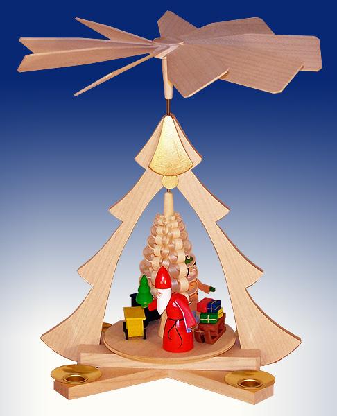 Tischpyramide Weihnachtsmann mit Eisenbahn BxHxt 21x26x22,5cm NEU