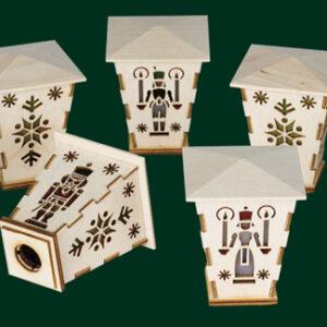Aufstecklaternen 5-tlg. für Schwibbogen Seiffen Erzgebirge Weihnachten NEU 92124