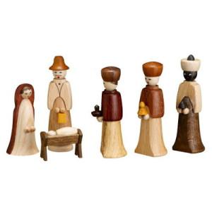 6 teilig Krippenfiguren 5,5 cm Seiffen Erzgebirge NEU 3201