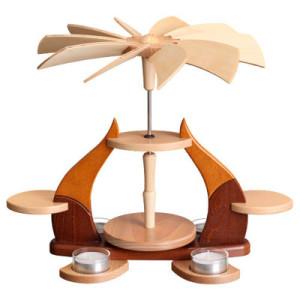 Designpyramide ohne Bestückung mit Teelichter HxLxB 28x34x27cm NEU