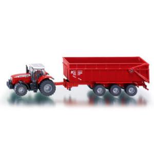 Siku Farmer 1:87 Massey Ferguson mit Anhänger Traktor NEU 1844 NEU