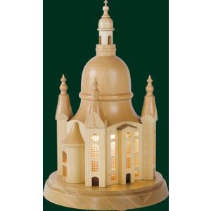 Dresdner Frauenkirche auf Sockel Beleuchtet Erzgebirge Weihnachten NEU 08075