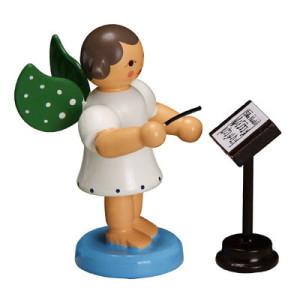 Engel Dirigent grüne Flügel 6,0cm ESCO Volkskunst Deko Seiffen NEU 9614