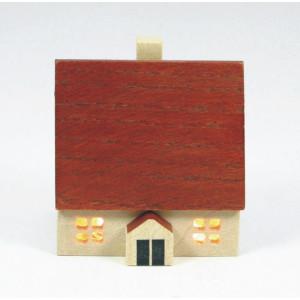 Haus 4 cm Winterhaus Holzhaus Innenbeleuchtung Tischschmuck Deko 204/18/2 HN