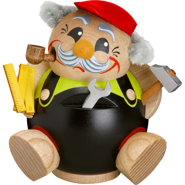 Weihnachtsfigur Kugelräuchermann Heimwerker HxBxT = 11x10x8cm NEU