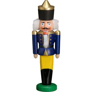 Nußknacker Figur Weihnachten Erzgebirge Seiffen König blau 11501/2 NEU