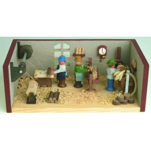 Miniaturstube Drehwerk BxHxT 11x4x6 cm NEU