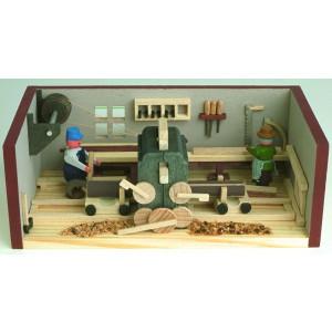 Miniaturstube Sägewerk BxHxT 11x4x6 cm NEU