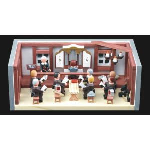 Miniaturstube Betstube BxHxT 11x4x6 cm NEU