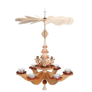 Hängepyramide Engel am Weihnachtsbaum natur HxLxB 37x37x42cm NEU