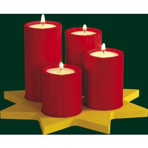 Adventskranz Stumpenlicht Teelichthalter Erzgebirge Weihnachtsschmuck NEU 04320