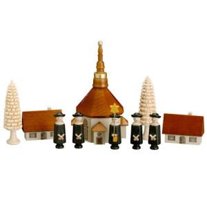 Kurrende Kurrendefiguren 10teilig Kurrendesänger Kirche 13cm Erzgebirge NEU 3304