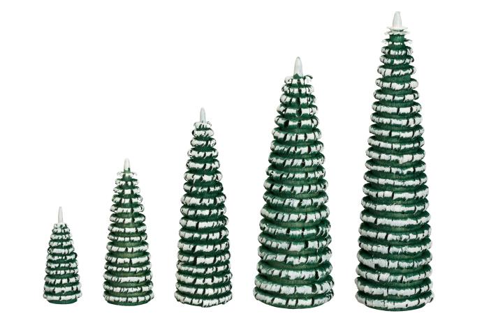Ringelbaum grün/ weiß Holzbaum H= 10cm NEU
