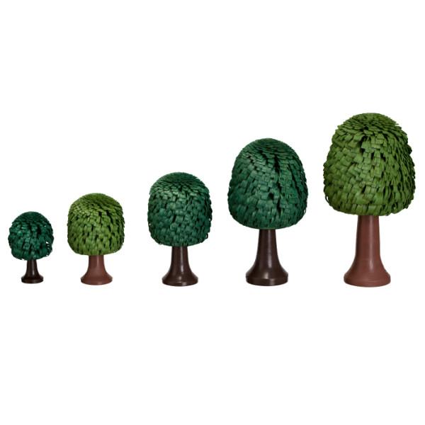 Ringelbaum Laubbaum mit Stamm grün Holzbaum H= 10cm NEU