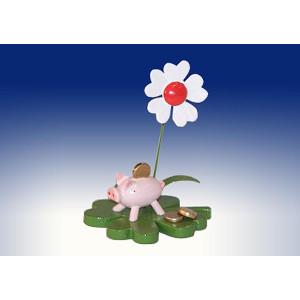 Ganzjahresdekoration Glücksbringer Sparschwein Höhe 7cm NEU