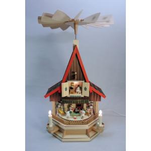 El Bel. Adventshaus Engelbäckerei Pyramide Seiffen Weihnachtsdeko Seiffen 19087
