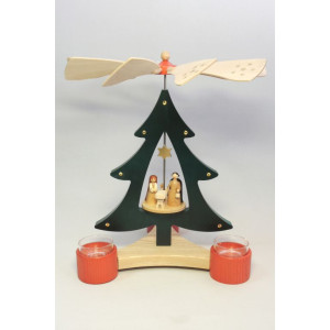 Baumpyramide Geburt Pyramide 28 cm Seiffen Erzgebirge Weihnachten NEU 15815