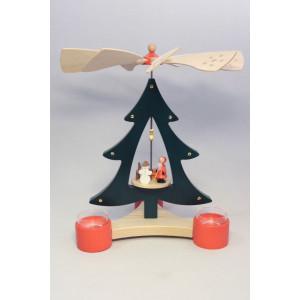 Baumpyramide Bescherung Pyramide 28 cm Seiffen Erzgebirge Weihnachten NEU 15816