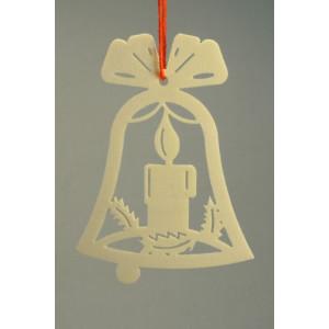 Baumbehang Glocke + Kerze 7 cm Christbaumschmuck Baumschmuck Seiffen NEU 11304