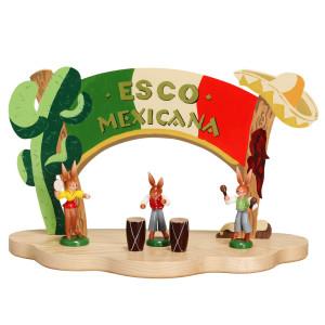 ESCO Mexikana Hasen + Bongo Trommel ,Rumbakugeln und Tänzerin OHNE DISPLAY NEU 9212 9213 9214