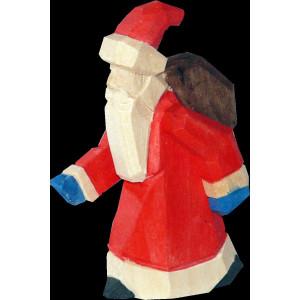 Weihnachtsmann Baumbehang mini geschnitzt bunt 6cm